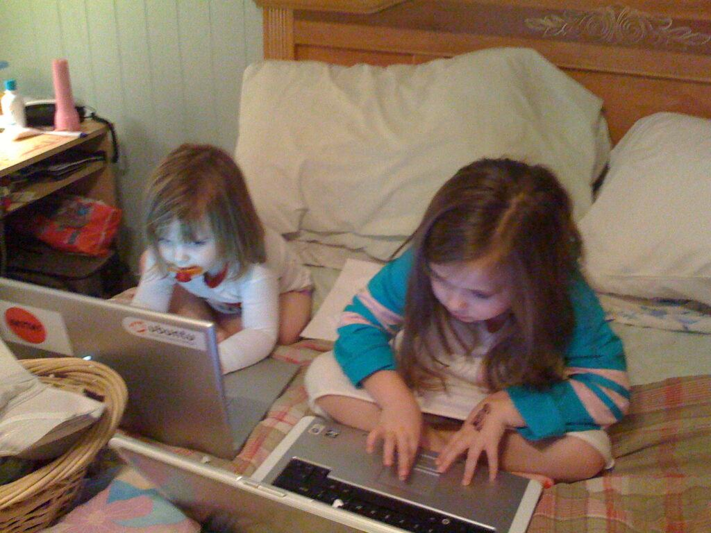 Kids Playing Online
