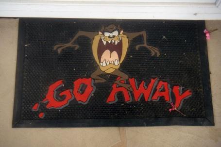 Go Away Front Door Mat